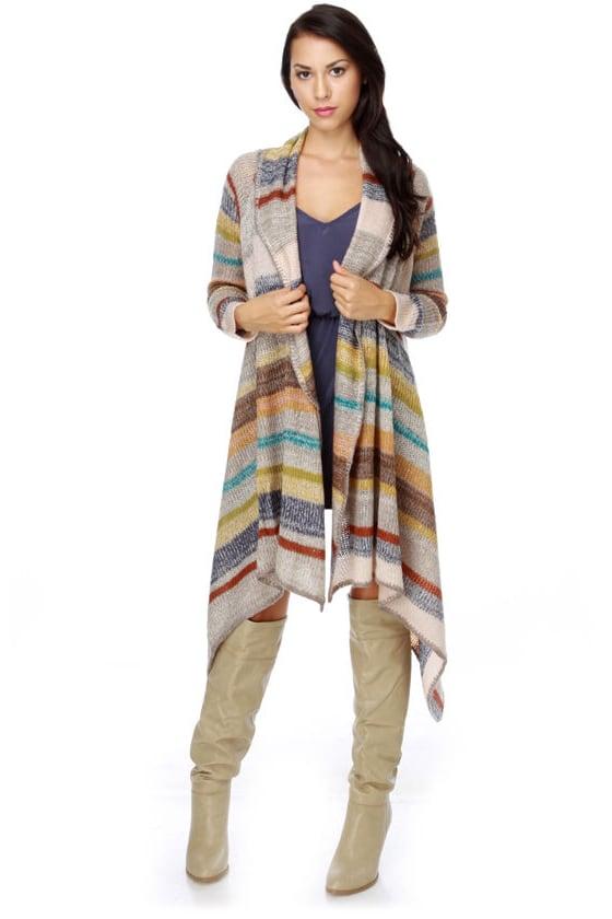 Joseph's Legacy Striped Sweater Wrap