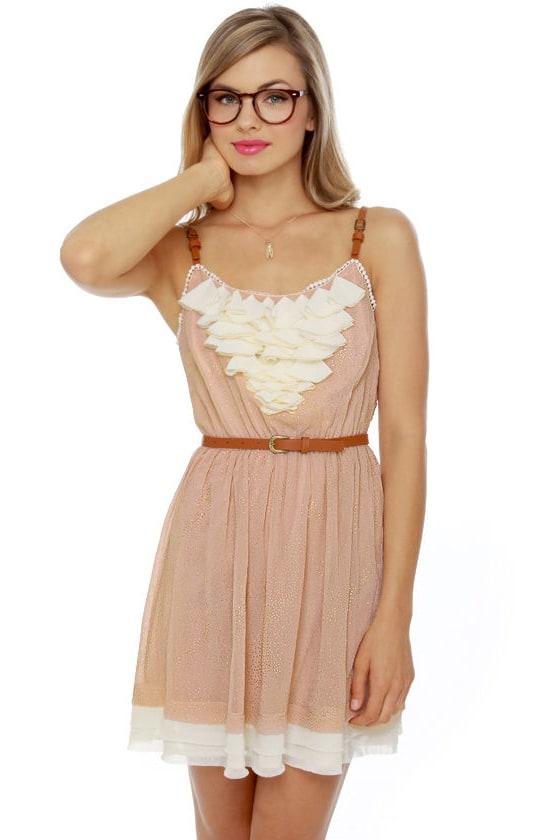 Gold Dust Woman Blush Dress