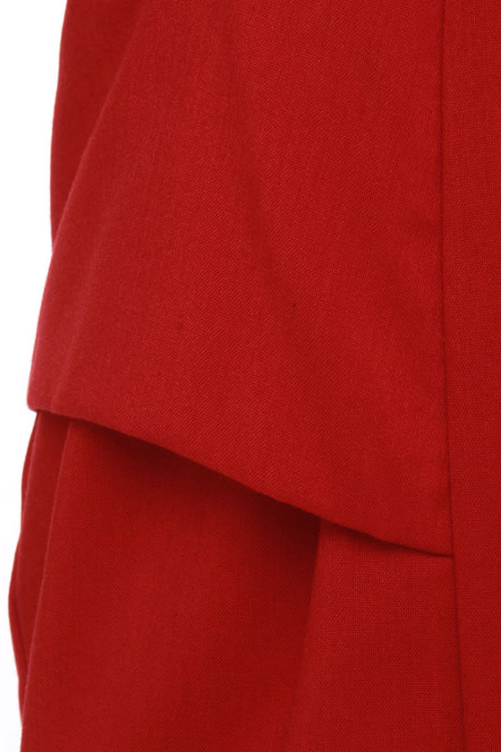 Fab Forties Red Dress at Lulus.com!