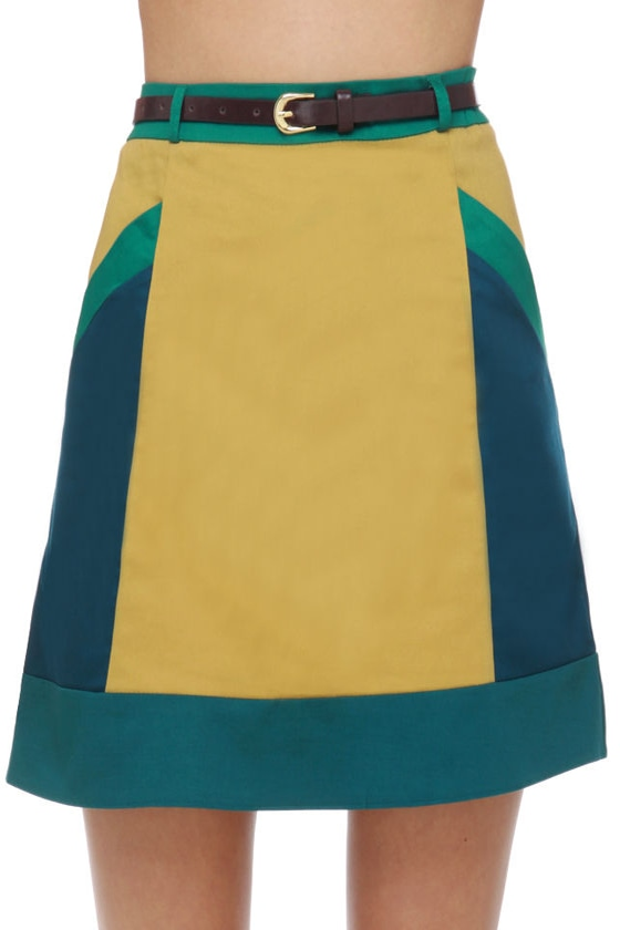 Marine Biologist Color Block Skirt