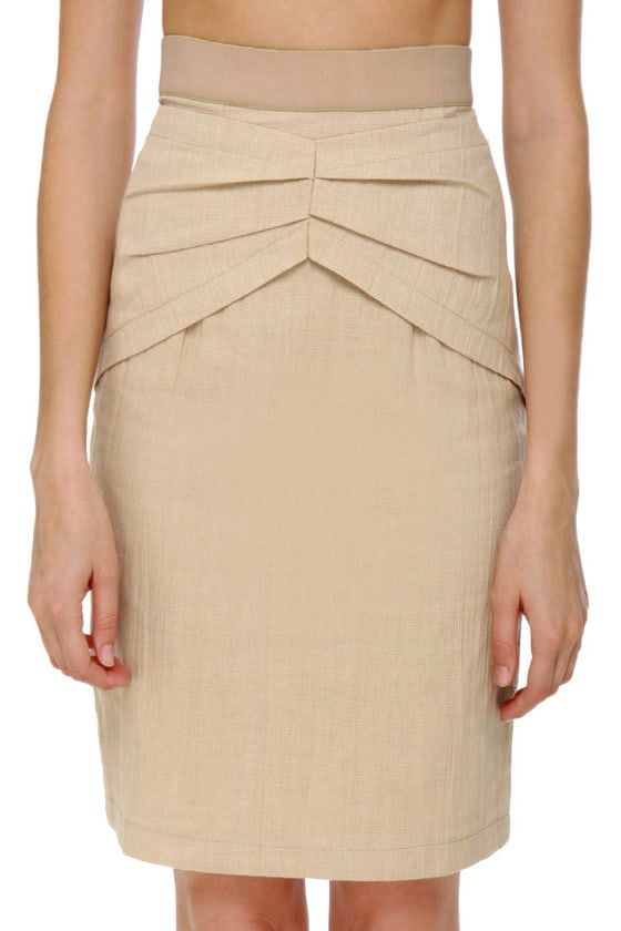 Schoolyard Star Beige Skirt at Lulus.com!