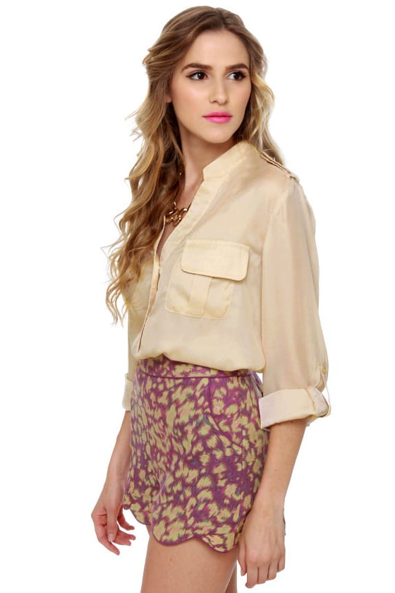 New Hampshire Hideout Beige Top at Lulus.com!
