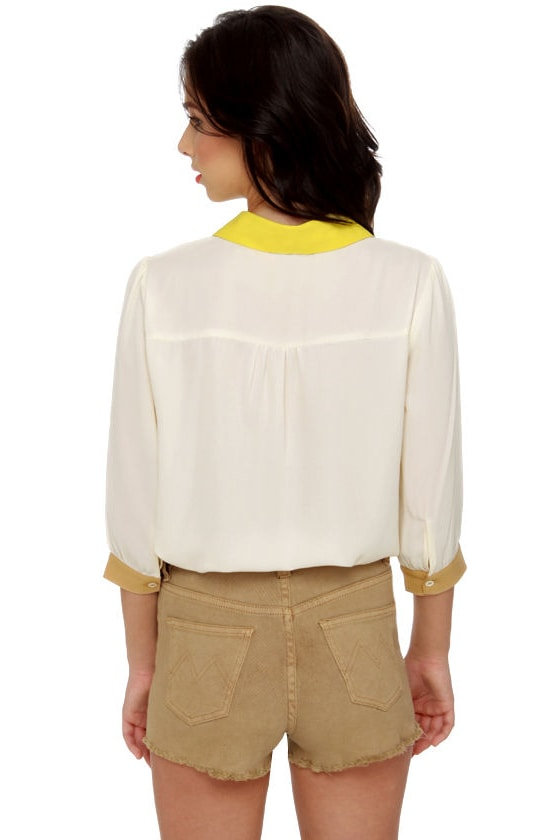 Craft Fair Cream Button-Up Top at Lulus.com!