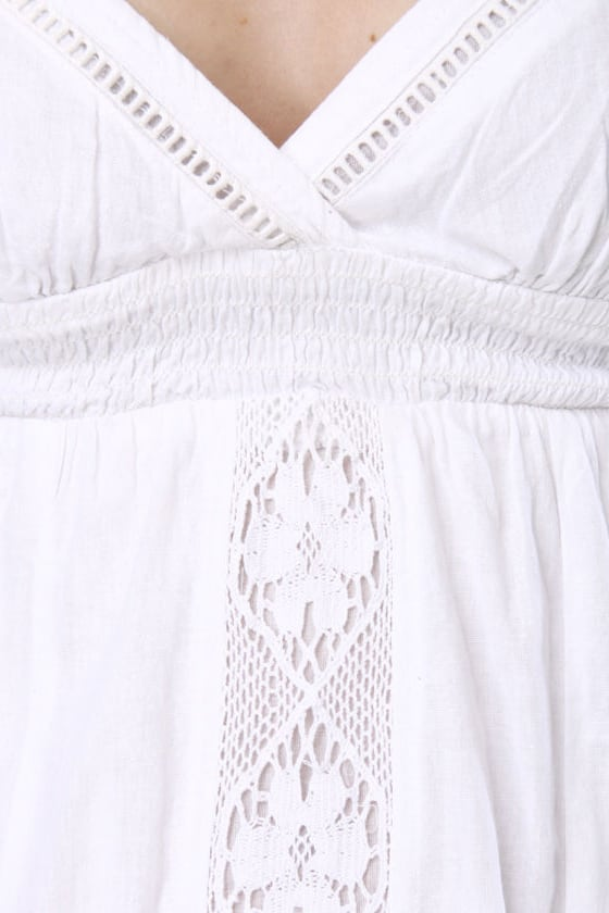 Element Rachel Lacy White Sundress