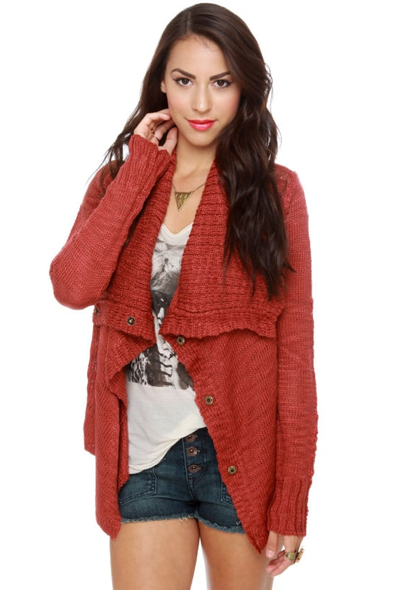 Element Eden Lariat Red Sweater