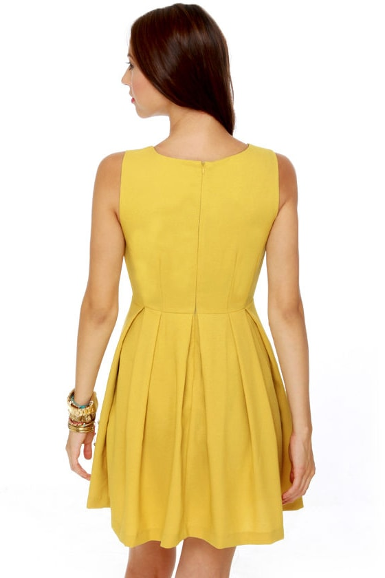 Born Ready Mustard Yellow Dress