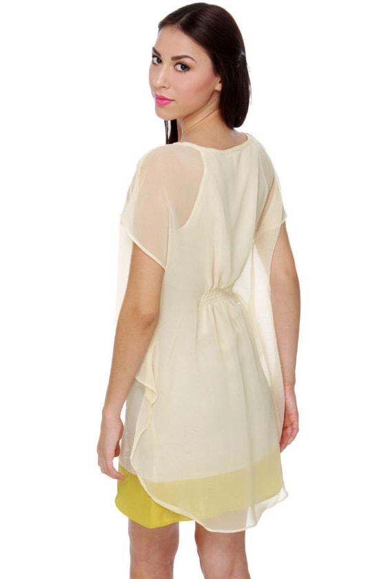For the Love of Lemony Cream Dress