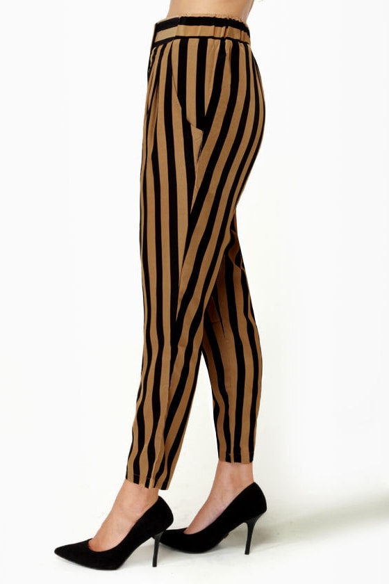 Taper Trail Striped Harem Pants