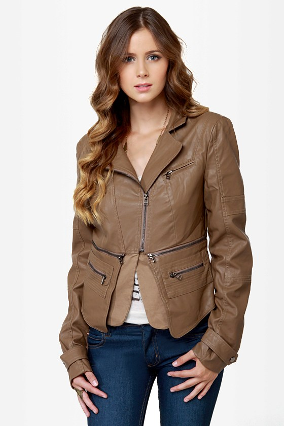 Pocketry Brown Vegan Leather Jacket at Lulus.com!