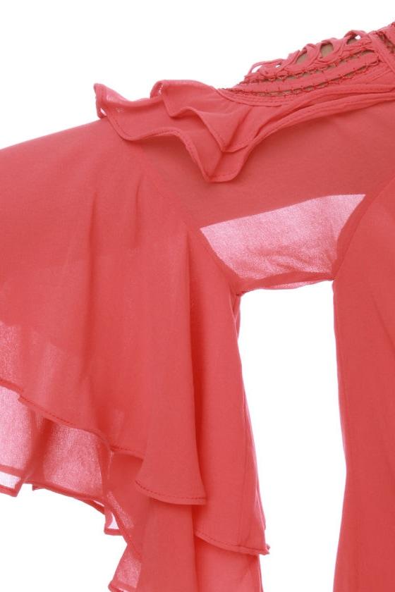 El Toreador Coral Red Top