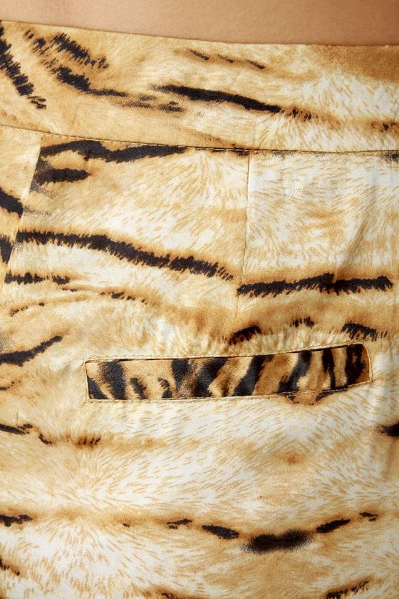 Ben-Gals Night Out Animal Print Pencil Skirt