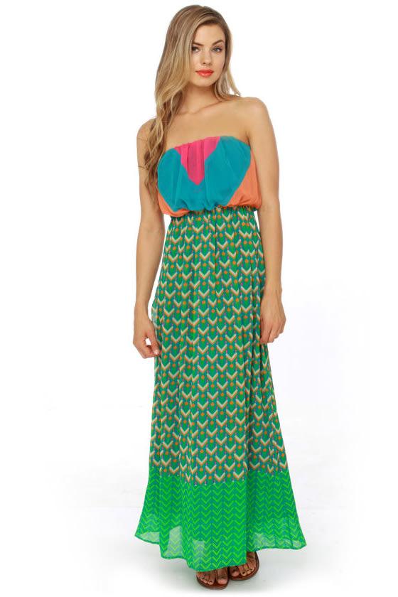 Geo Look Nice Print Maxi Dress