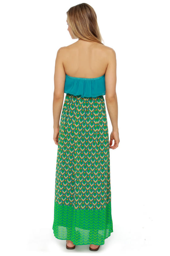 Geo Look Nice Print Maxi Dress at Lulus.com!