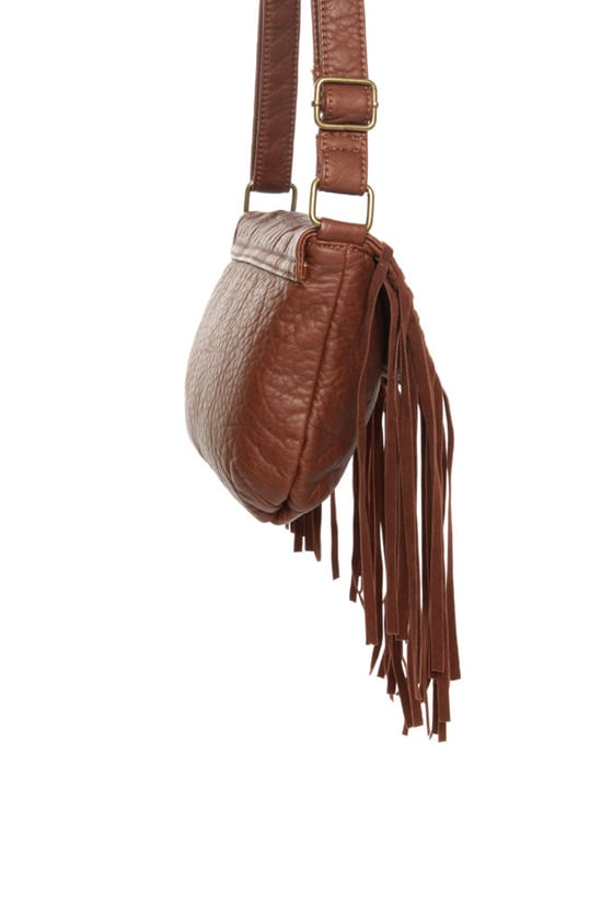 Shindig Brown Fringe Purse