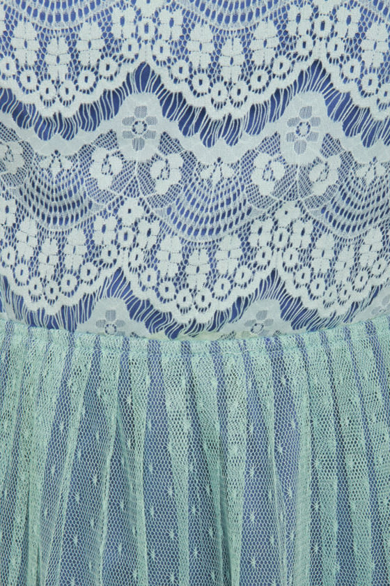Bluebell of the Ball Blue Lace Dress