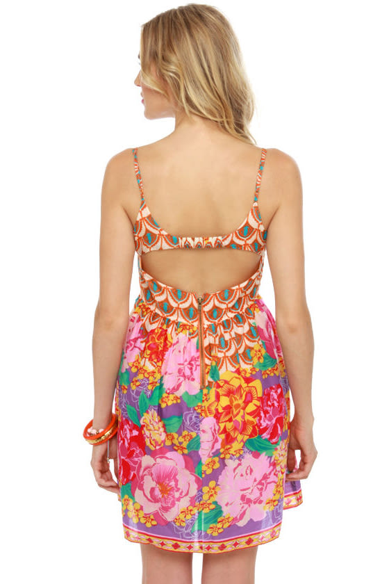 Thai Breaker Floral Print Dress