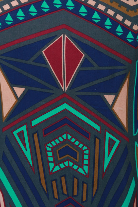 All Deco-d Out Blue Print Kimono Jacket