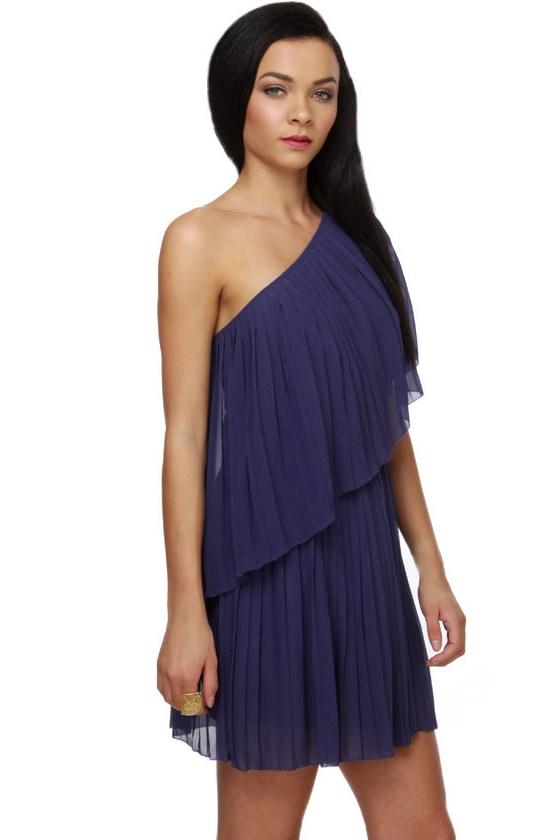 Ocean Liner Pleated Blue Dress