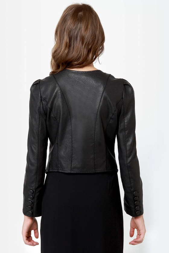 If Looks Could Kill Black Vegan Leather Jacket