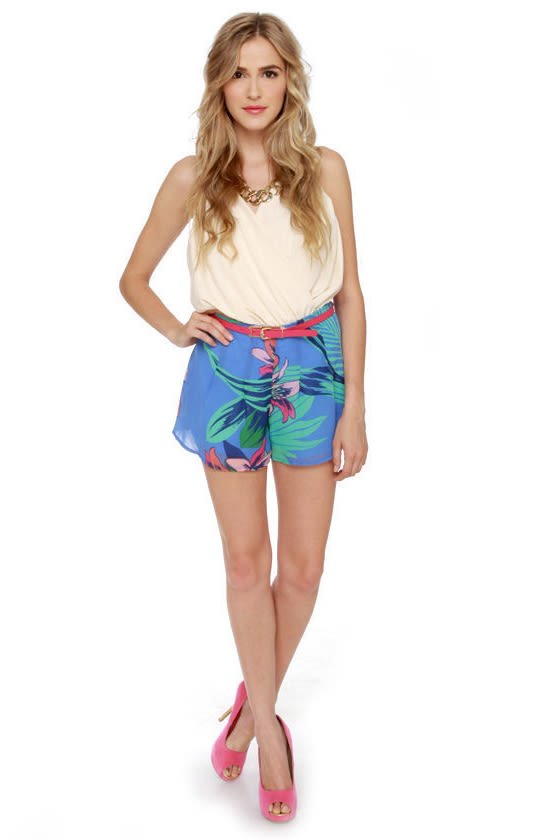 Miami Spice Floral Print Shorts
