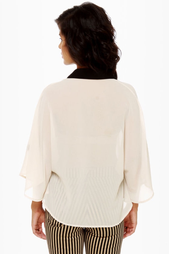 Cape Envy Cream Cape Top