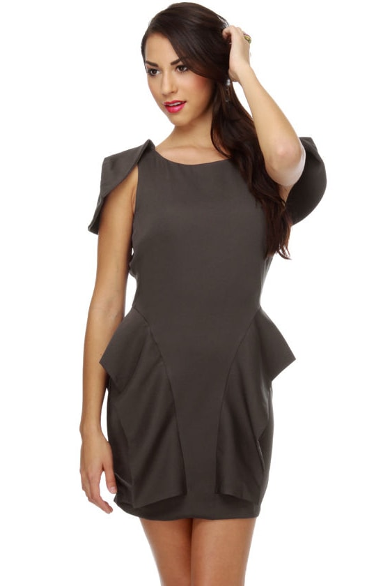 Chic-Side Street Grey Dress