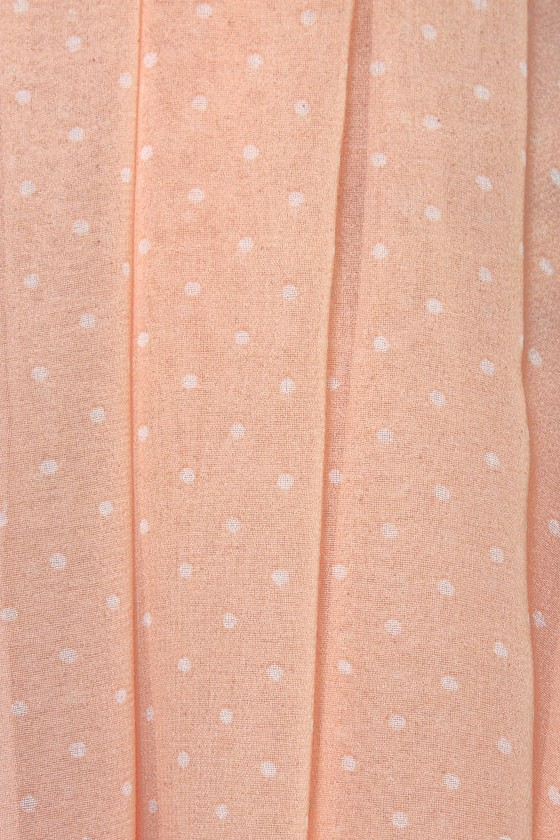 Peach Tea Peach Polka Dot Dress at Lulus.com!