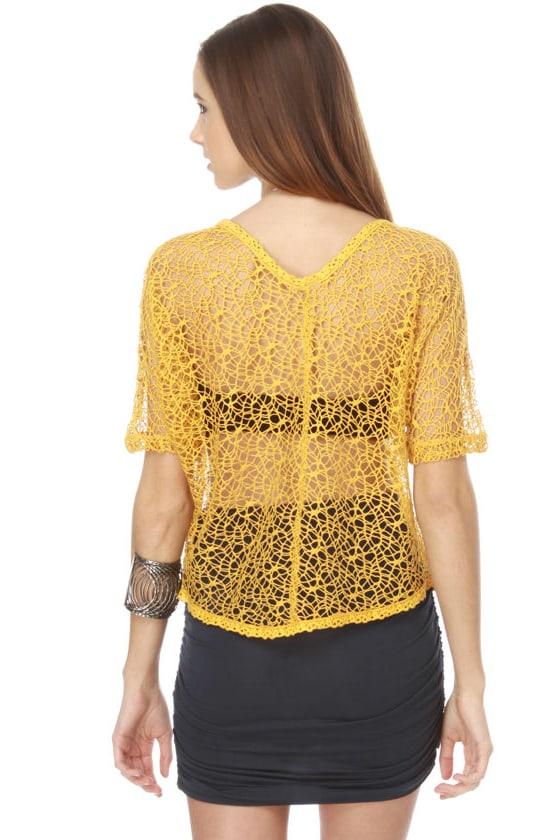 Web Site Yellow Crop Top