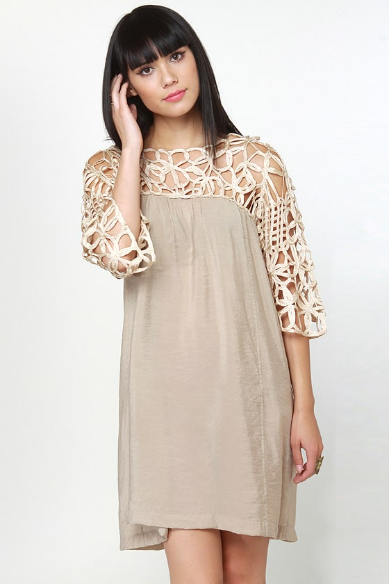 Motown Beige Dress at Lulus.com!