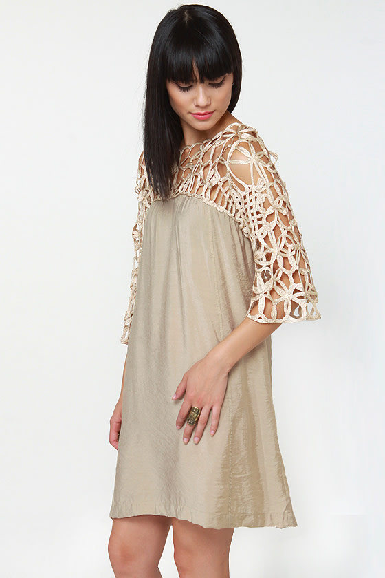 Motown Beige Dress