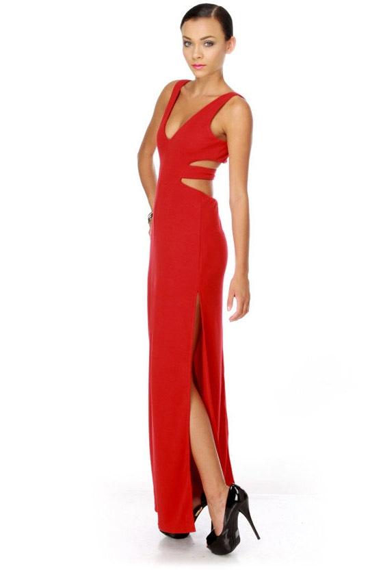 Jessica Rabbit's Closet Red Maxi Dress