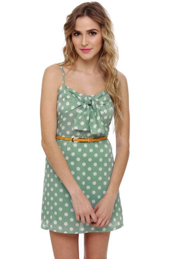 b7a7ddc28fa Cute Polka Dot Dress - Mint Green Dress - Sundress -  38.00
