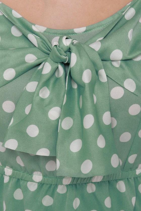 Grand Dotter Mint Green Polka Dot Dress