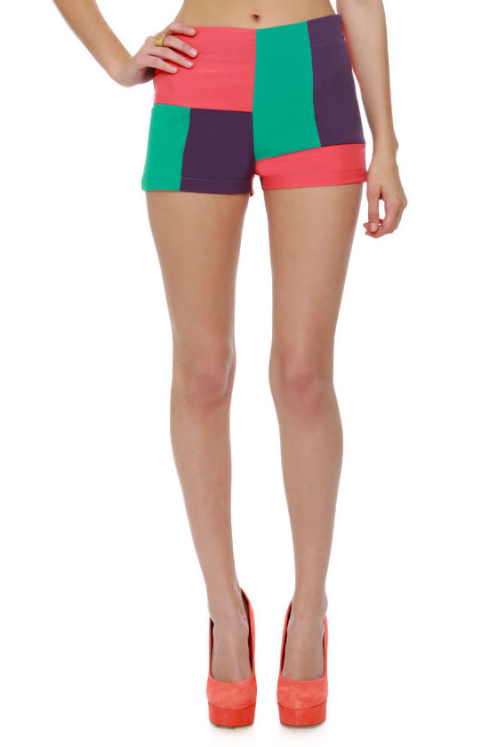 Smarty Pants Color Block Shorts