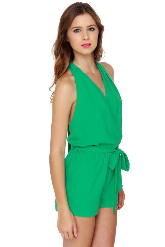 90403365b90 Cute Mint Green Romper - Teal Romper - Halter Romper -  41.00