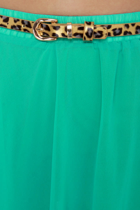 Up and Downtown Teal Skirt