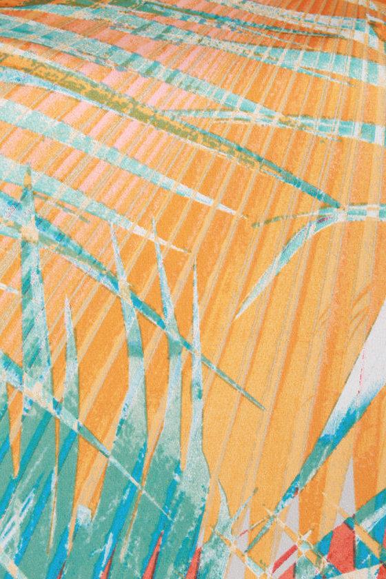 Mount Kilauea Orange Print Top
