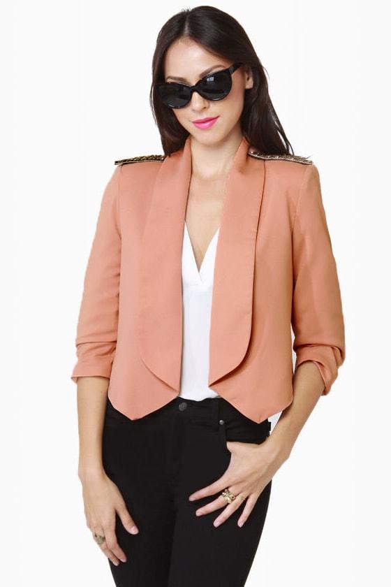 Headmistress Blush Cropped Jacket