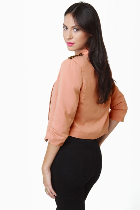 Headmistress Blush Cropped Jacket