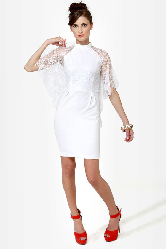 Lace for Days Ivory Lace Dress
