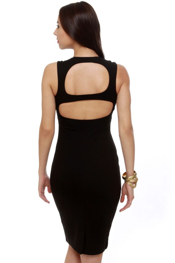 Vixen Mixer Midi Black Dress
