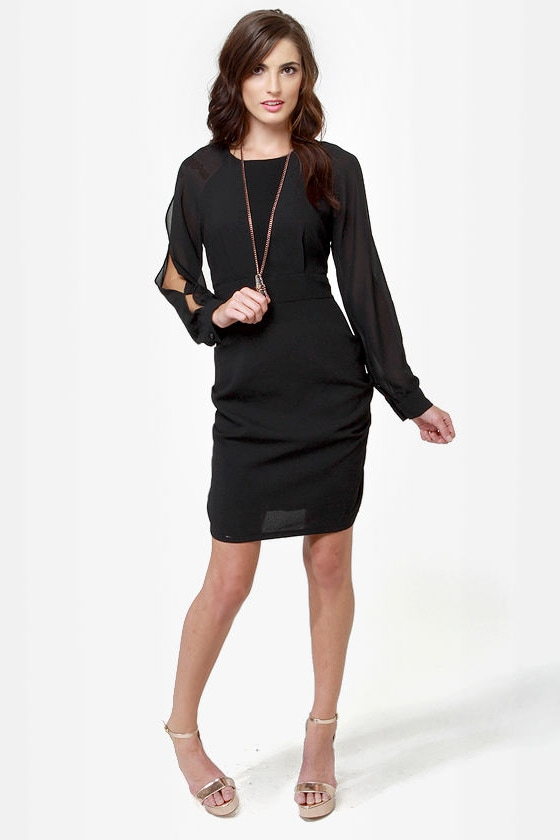 Leave Me Breathless Black Dress at Lulus.com!