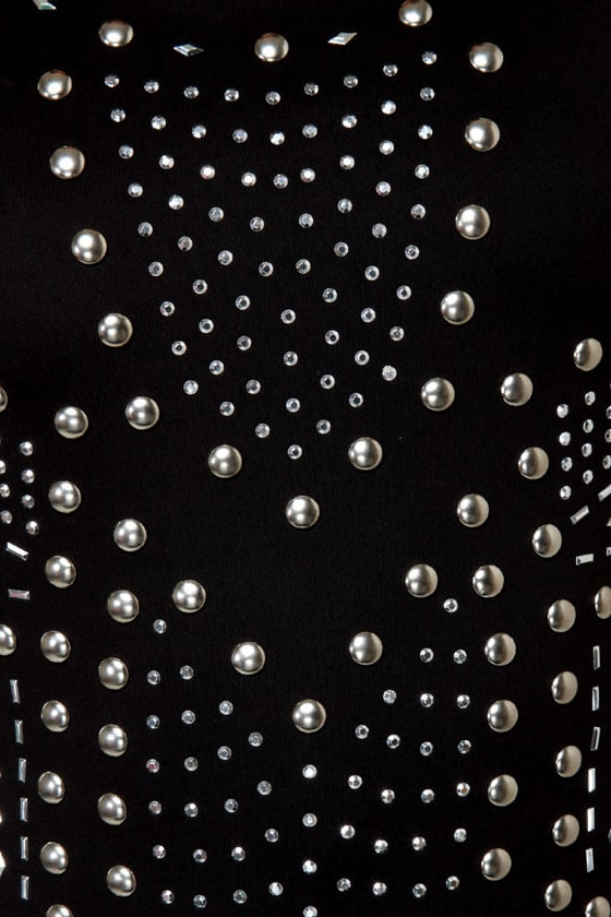 Metal Show Studded Black Dress