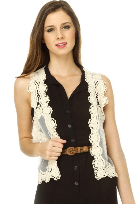 The New Romance Lace Vest
