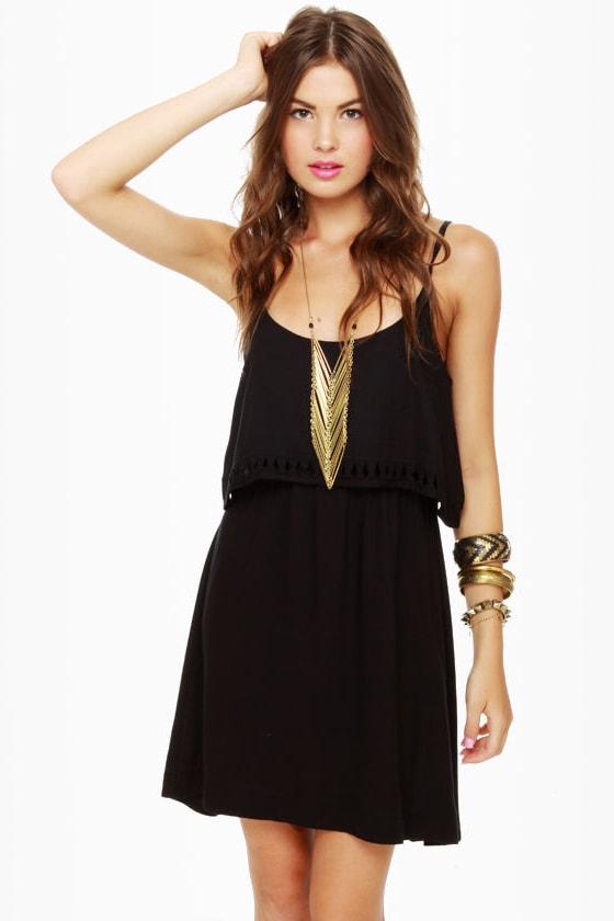 Hurley Indie Coral Black Dress