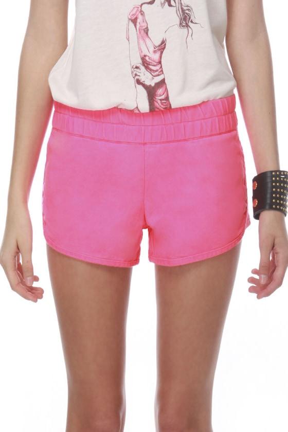 Hurley Beachrider Neon Pink Shorts
