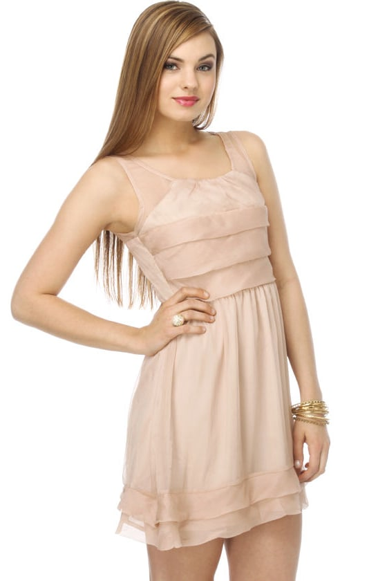Maple Elf Taupe Dress