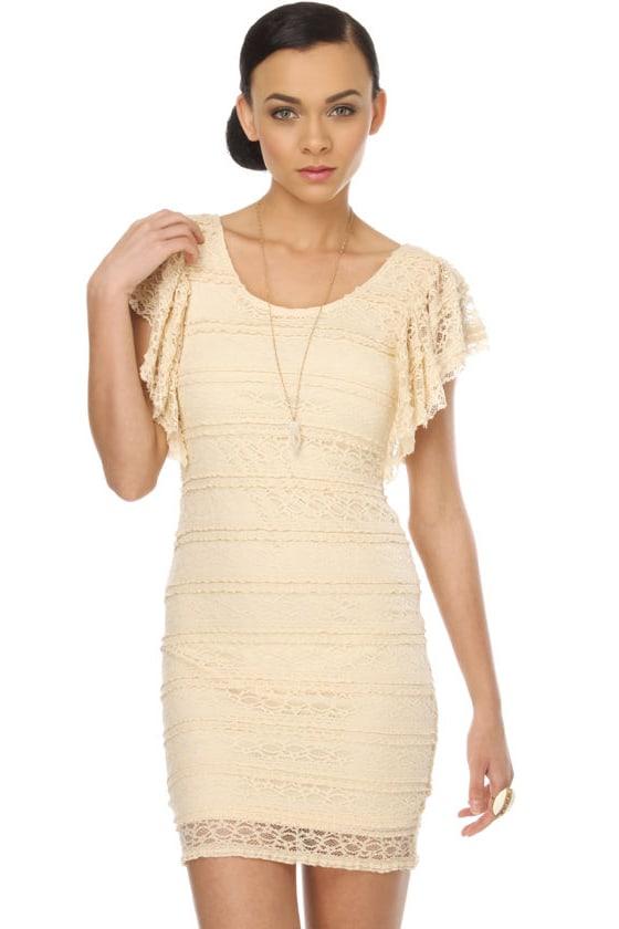 Coyly Doily Ivory Lace Dress