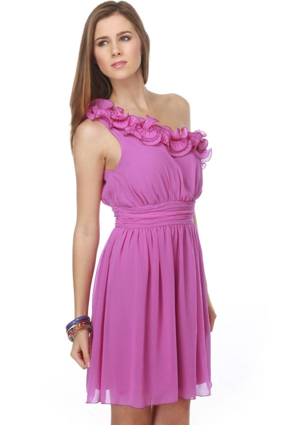 Boysenberry Popsicle One Shoulder Purple Dress