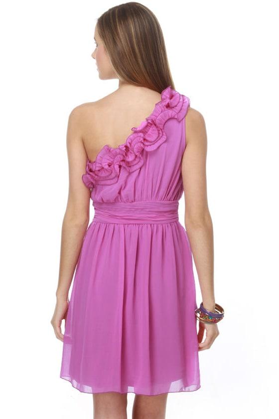 Boysenberry Popsicle One Shoulder Purple Dress